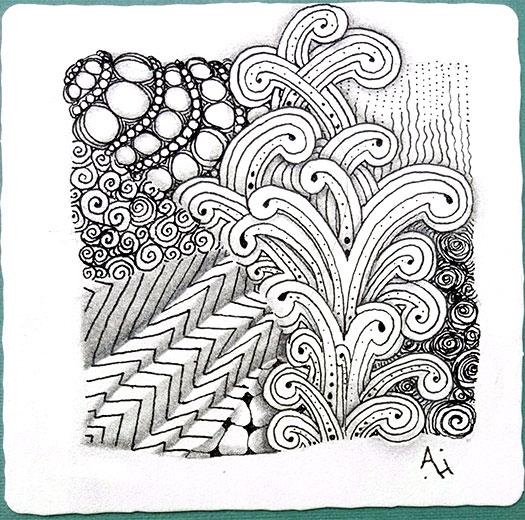 Cobbles Floo Hypnotic Msst Purk Printemps Static  Artist: Amanda Higbee