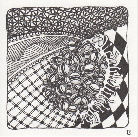 Zentangle Tile created on September 25, 2010