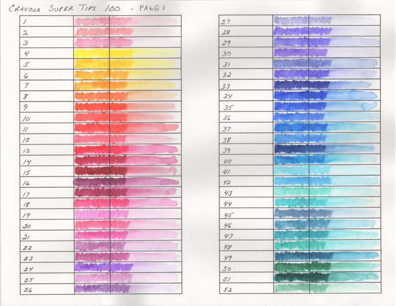 Crayola Color Chart Images Galleries