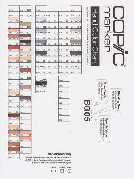 blank copic color chart