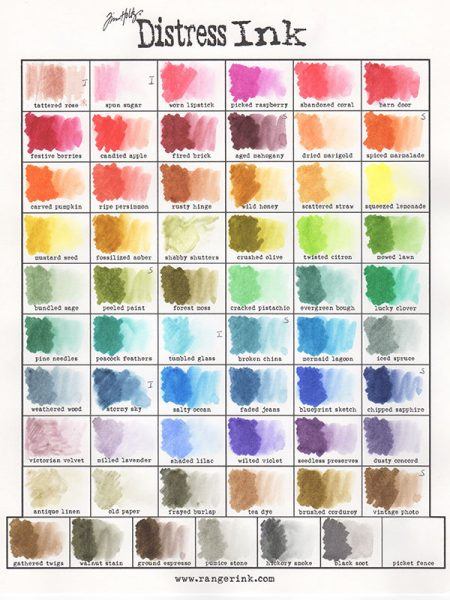 In Addition To Markers There Are Stamp Pads Re Inkers Stains And Paint You Can A Blank Color Chart From The Ranger Ink